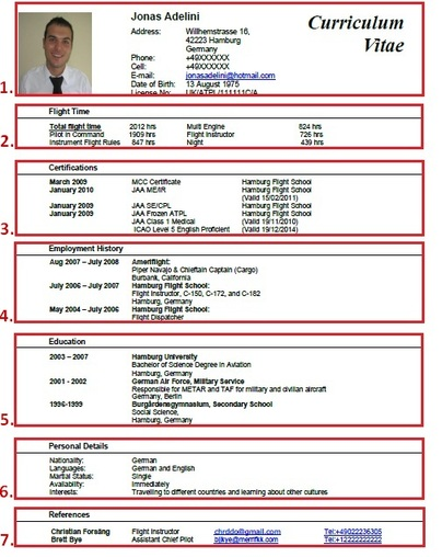 curriculum vitae and resume example for pilots latest pilot jobs